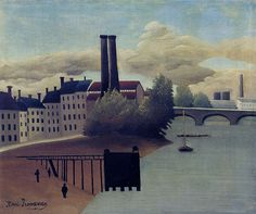 Henri Rousseau - View of the outskirts of Paris (1896)