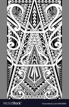 Maori Tattoo Arm, Leg Tattoos, Tribal Tattoos, Sleeve Tattoos, Polynesian Tattoo Designs, Maori Tattoo Designs, Clock Tattoo Sleeve, Tribal Drawings, Tribal Lion