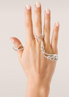 (Interesting) Nikos Koulis Rings :: Nikos Koulis white gold and white diamonds Fontana ring Hand Jewelry, Womens Jewelry Rings, Boho Jewelry, Jewelry Art, Antique Jewelry, Jewelry Accessories, Fashion Jewelry, Jewelry Design, Jewellery Rings
