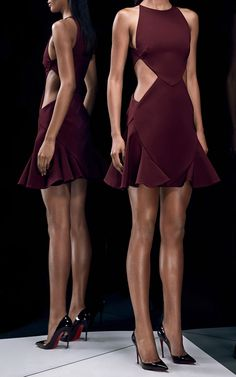 Stretch-Jersey Cut-Out Mini Dress by Cushnie et Ochs - Moda Operandi