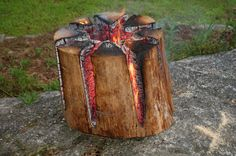 The Swedish Fire Torch, also known as a Canadian Candle, is a great way to set up a fire as it uses only one log, has a flat cooking surface and is self feeding, meaning it can burn for several hours...