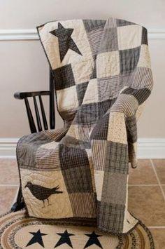 Amazon.com - Kettle Grove Patchwork Throw Quilt - Primitive Quilts