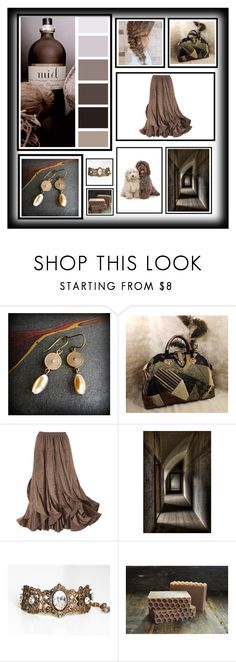 """Tonal Taupes"" by jillsjoyagol ❤ liked on Polyvore"