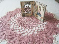 Crochet Doily - Dusty Pink Pineapple Lace Doily Cotton