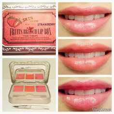 Review: SKIN Food Fruits Brunch Lip Box (Strawberry), Korean makeup, Amazing Lip Gloss. FOR MORE REVIEWS, just click the picture. #shinybrows
