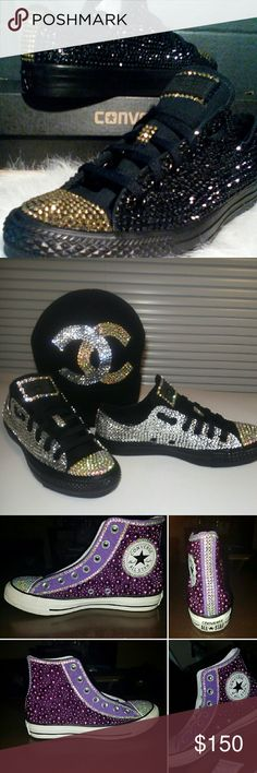 Adult Custom Bling Converse Converses are made to order in all adult sizes and colors. Converse Shoes Sneakers
