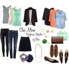 Chic Mom Uniform Staples --//-- no black or khaki/tan - I'm choosing gray and navy as my neutrals.
