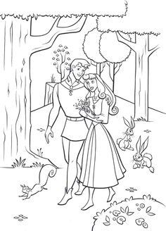 sleeping beauty coloring pages - Google-søgning