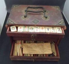 Antique Mahjong set