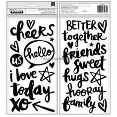American Crafts Amy Tangerine Better Together Thickers Foam Black