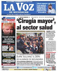 #BuenosDías No te pierdas la edición impresa de La Voz de Michoacán de este jueves 10 de noviembre: