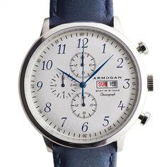 Armogan Watch (Blue) Classic Leather Strap