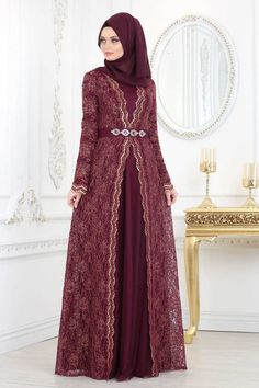 NEVA STYLE - PLUM COLOR HIJAB EVENING DRESS 2011MU