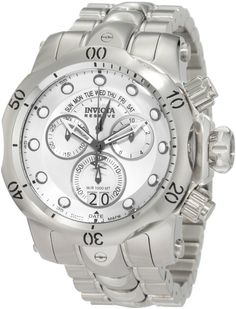 Invicta 23885 men's Venom silver tone dial stainless steel bracelet chronograph dive watch is offered, in a polished solid stainless steel case. Most Popular Watches, Best Watches For Men, Cool Watches, Wrist Watches, Stainless Steel Watch, Stainless Steel Bracelet, Best Watch Brands, Ebay Watches, Skeleton Watches