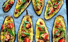 Eggplant Pizza Slices [Vegan, Gluten-Free]