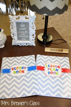 Mrs. Bremer's Class: Without this Record Book and Lesson Plan Book from Creative Teaching Press, I would never get through the day!