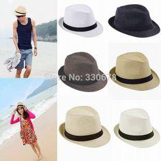 Encontrar Más Sombreros de Sun Información acerca de Moda para mujer para  hombre de Fedora del 3b43c24657b3