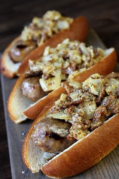 This Warm Bacon Onion Relish will elevate your brats and dogs and will make you king of the grill this summer! Brats Recipes, Hot Dog Recipes, Sauce Recipes, Dips, Fresh Lobster, Onion Relish, Bratwurst, Food Print, Cooking Recipes