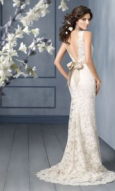 lace wedding dress this is the dress I want... with a blue/purple sash instead