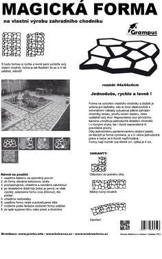 Forma na betonové dlaždice - GRAMPUS - výroba betonového chodníku : Jezírka Banat s.r.o.