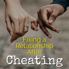 Learn how to fix your relationship after cheating. Choose to work on your relationship, move past the mistrust, and give love another chance. Fixing Relationships, Relationship Bases, Relationship Building, Relationship Advice, Relationship Pictures, Healthy Relationships, Online Dating Advice, Sweet Texts, Cheating Quotes