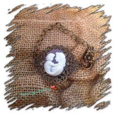 Vintage Inspired Mother/Child Cameo Bracelet on Etsy, $18.00