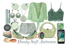 Dusty Soft Autumn by prettyyourworld on Polyvore featuring MANGO, WearAll, Aéropostale, Lauren Ralph Lauren, Rocio, Ginette NY, Imperial, Swarovski, Ray-Ban and Griffin