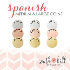 New Coins South Hill Designs by Myriam Independent Artist #57944 www.southhilldesigns.com/myriam Facebook- South Hill Designs by Myriam Email- shd.myriam@gmail.com