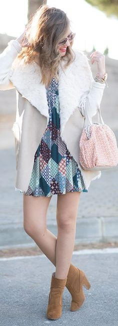 Dress: Qué-Guapa, Handbag: Abbacino, Sunglasses: Zara (S/S 16), Booties: Zara (A/W 15-16), Cardigan / Vest: Zara (A/W 15-16)  | Mi Aventura Con La Moda #dress