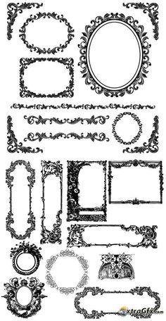 Vintage decorative frame (vector)