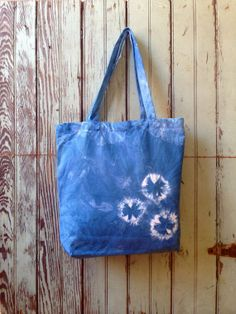 c23fec8d017f Items similar to Shibori   tie dye Indigo Cotton   Canvas Bag on Etsy