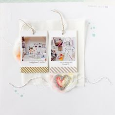 #scrapbooking page by Janna Werner - using #Sizzix dies on tissue paper