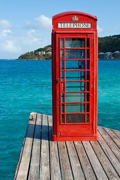 Phone booth on Virgin Islands