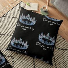 'Queen, Royalty, Daughter of a Great King' Floor Pillow by Great King, Pillow Design, Floor Pillows, Royalty, Daughter, Flooring, Queen, Printed, Awesome