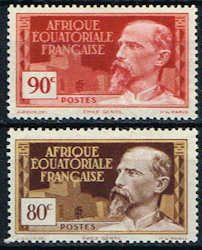 French Equatorial Africa 54 - 55 Stamps - Emile Gentil Stamps - AF FEA 54 to 55-1 HR