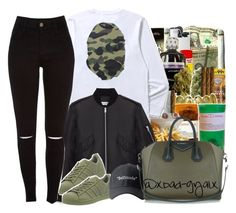 """""""$$$"""" by xbad-gyalx ❤ liked on Polyvore featuring Yves Saint Laurent, adidas and Givenchy"""