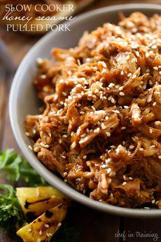 Slow Cooker Honey Sesame Pulled Pork