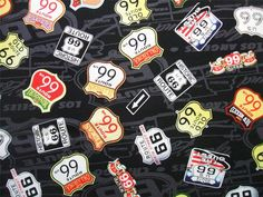 Route 66 Retro State Highway Road Signs Exclusively Quilters Fabric Yard. $10.50, via Etsy.