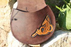 Sacoche cheval celtique, Leather bag celtic horse