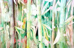 """Cañas II"" Watercolor by Kira Mamontova."