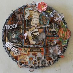 Ginas Designs: Photo Display Tray in a Halloween Theme