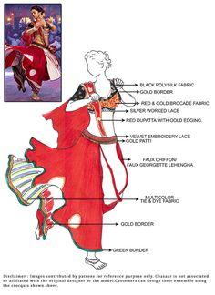 DIY Red Ram Leela Lehenga