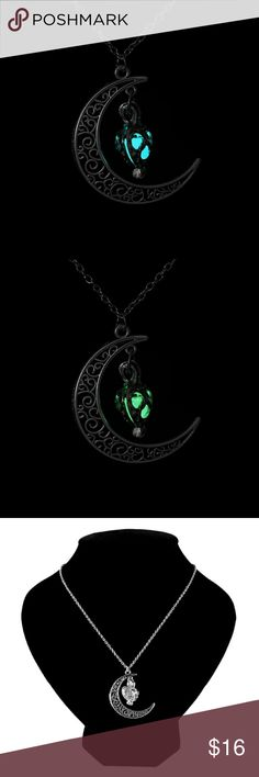 Luminous Glow In The Dark Moon Necklace Fashion necklace that glows in the dark! Great for sticking stuffers! ♡ Jewelry Necklaces