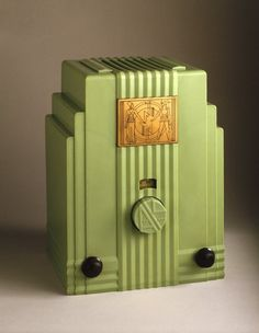 """skyscraper"" radio c. 1933, for Air-King Products Co. Inc. (with J.G. Rideout)"