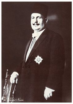 H.M. King Fouad I of Egypt's Standing-Portrait