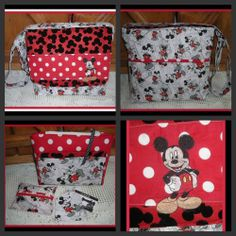 MICKEY MOUSE MINNIE MOUSE CARTOON CROSS-BODY MESSENGER BAG  cosmetic case extras