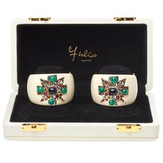 VERDURA Pair of Maltese Cross Cuffs Limited Edition | From a unique collection of vintage cuff bracelets at https://www.1stdibs.com/jewelry/bracelets/cuff-bracelets/