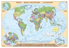 ŚWIAT mapa polityczna 1:35 000 000 EKOGRAF