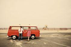 Engagement Photos + VW Bus = Adorable