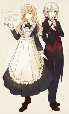 Maid & Butler Anime Style, Anime Outfits, Maid Outfit Anime, Manga Girl, Anime Art Girl, Kawaii Anime Girl, Anime Girls, Manga Anime, Gato Anime